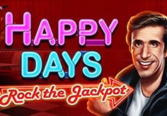 Happy Days Rock The Jackpot Pokie Logo