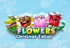 Flowers Christmas Edition Pokie Logo