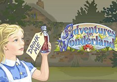 Adventures In Wonderland Pokie Logo