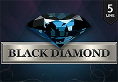 Black Diamond 5 Lines Pokie Logo