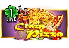 Crazy Pizza 1 Line Pokie Logo