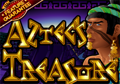 Aztecs Treasure Pokie Logo