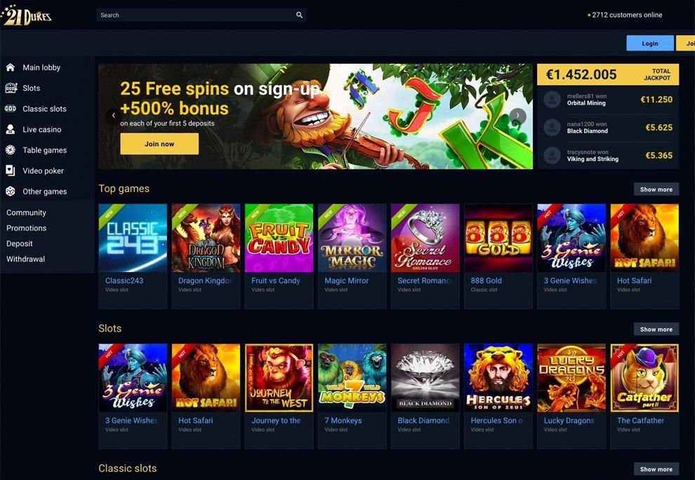 21 Dukes Casino Review & No Deposit Bonus Codes 2019 ...