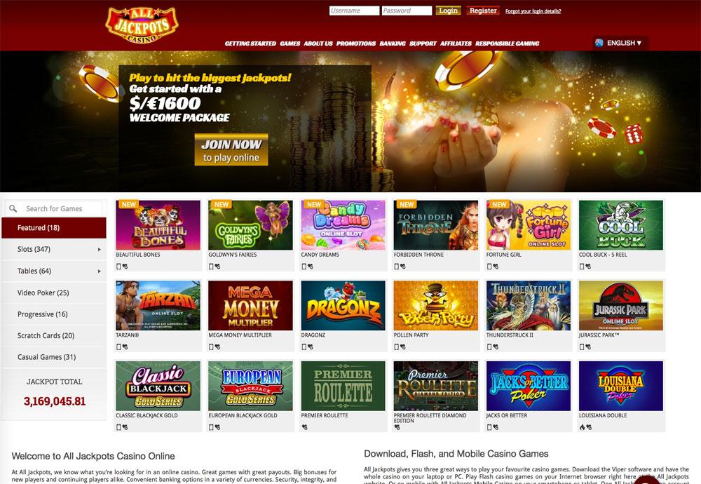All Jackpots Casino: Review des berühmten Online-Casino