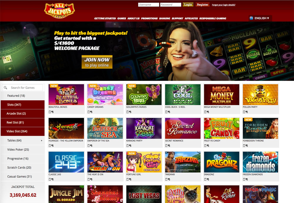 All Jackpots Casino Review And Bonuses