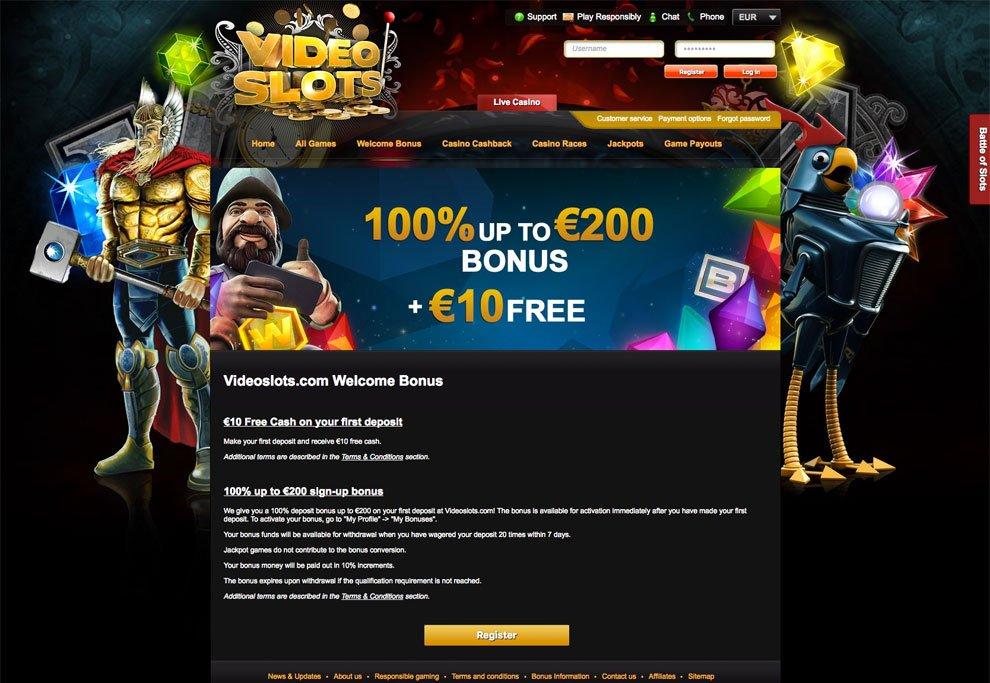 Videoslots casino review