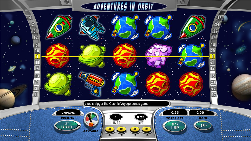 Adventures In Orbit Pokie