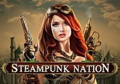 Steampunk Nation Pokie Logo