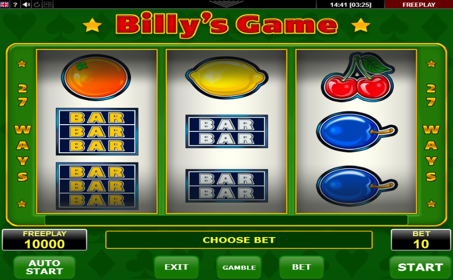 Billy 8217s Game Pokie