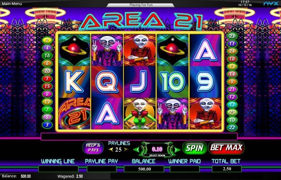 Area 21 Pokie