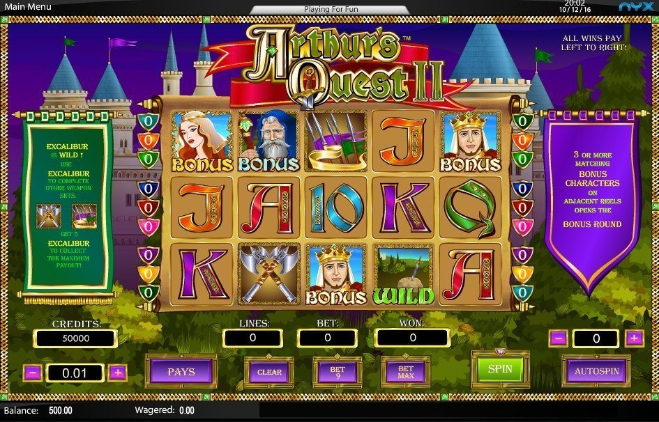 Arthur 8217s Quest 2 Pokie