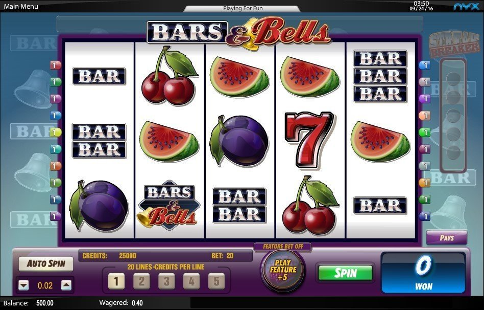 Bars And Bells Pokie