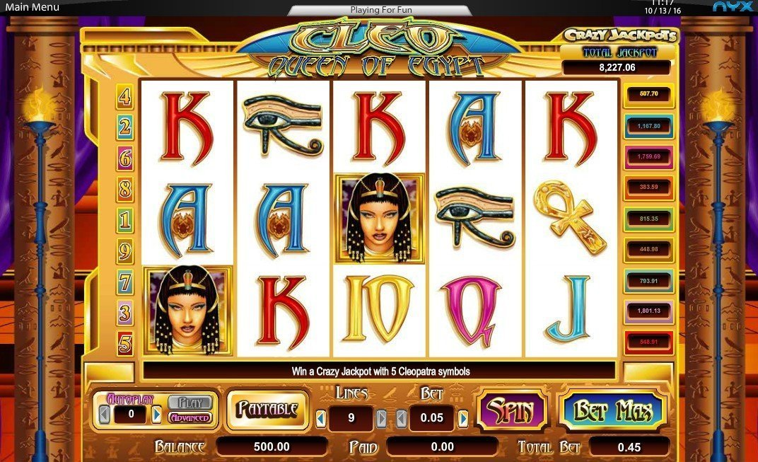 Cleo Queen Of Egypt Pokie