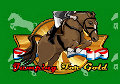 Jumping For Gold Pokie Logo