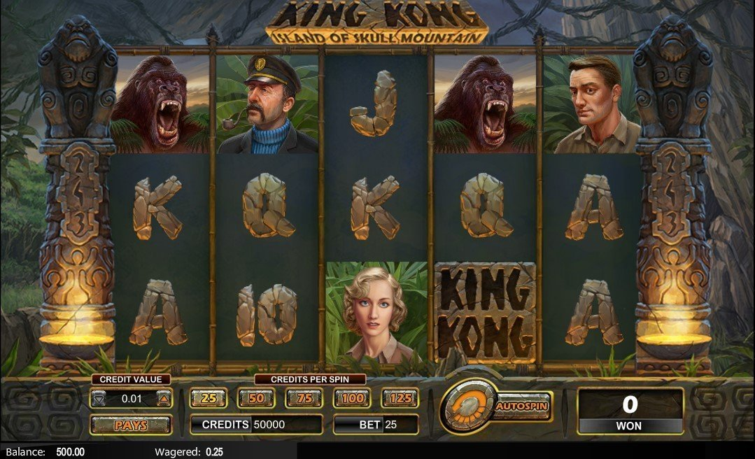 King Kong Island Of Skull Mountain Pokie