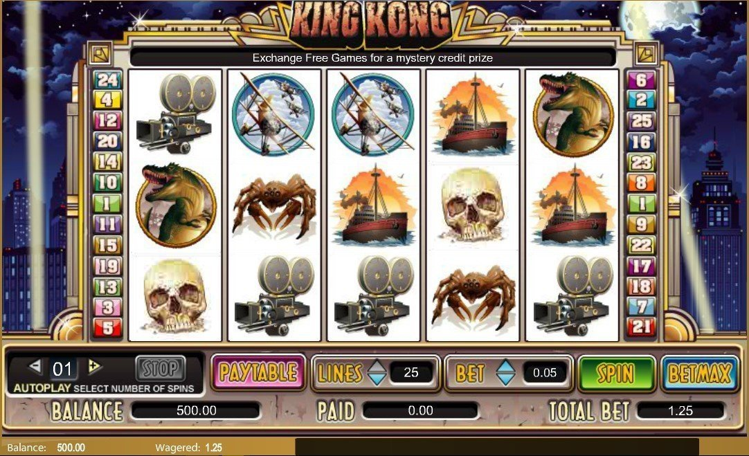 King kong free online games play roulette wheel