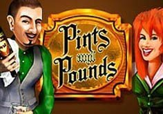 Pints And Pounds Pokie Logo