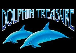Dolphin Treasure Pokie Logo