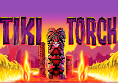 Tiki Torch Pokie Logo