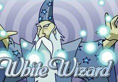 White Wizard Pokie Logo