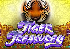 Tiger Treasures Pokie Logo