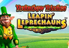 Rainbow Riches Leapin Leprechauns Pokie Logo