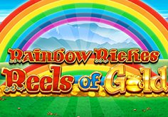 Rainbow Riches Reels Of Gold Pokie Logo