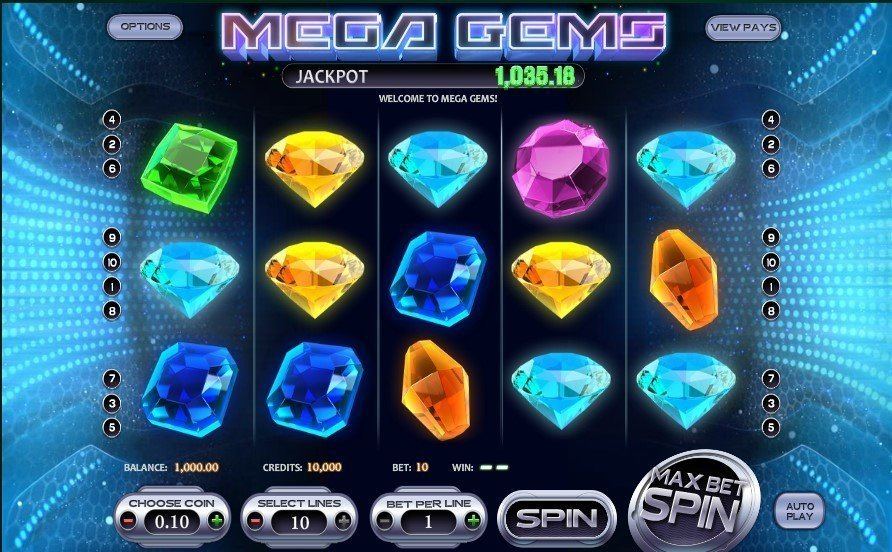 Mega Gems Pokie