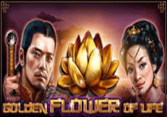 Golden Flower Of Life Pokie Logo
