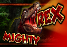 Mighty Rex Pokie Logo
