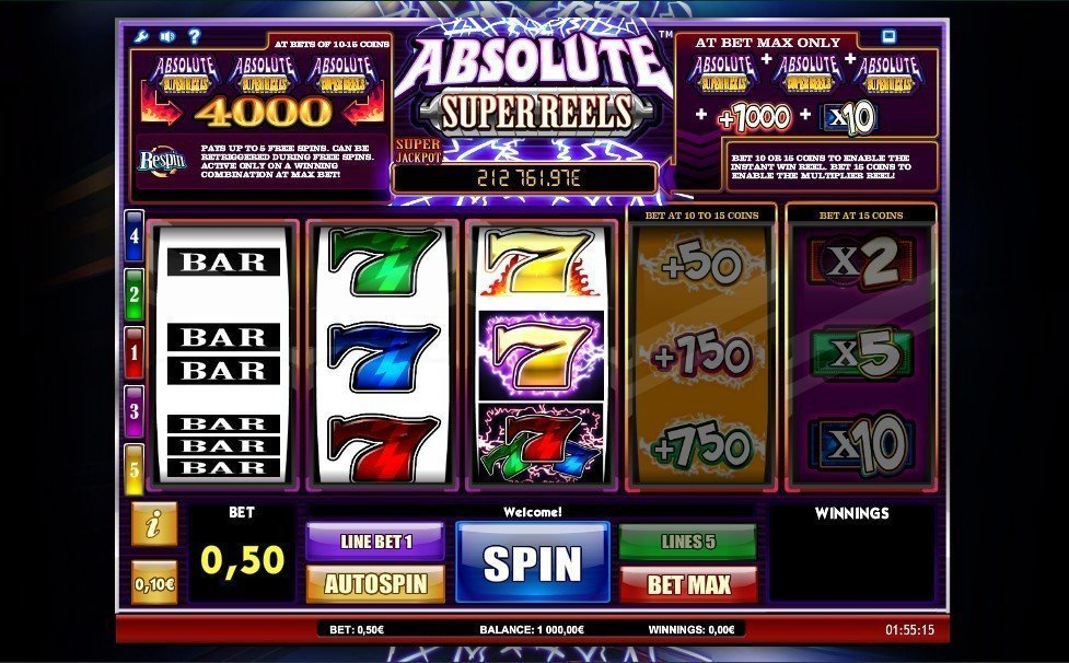 Absolute Super Reels Pokie