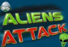 Aliens Attack Pokie Logo