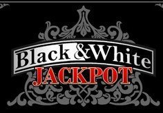Black 038 White Jackpot Pokie Logo