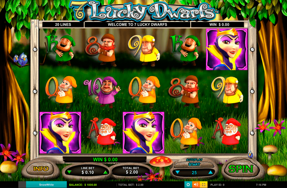 7 Lucky Dwarfs Pokie