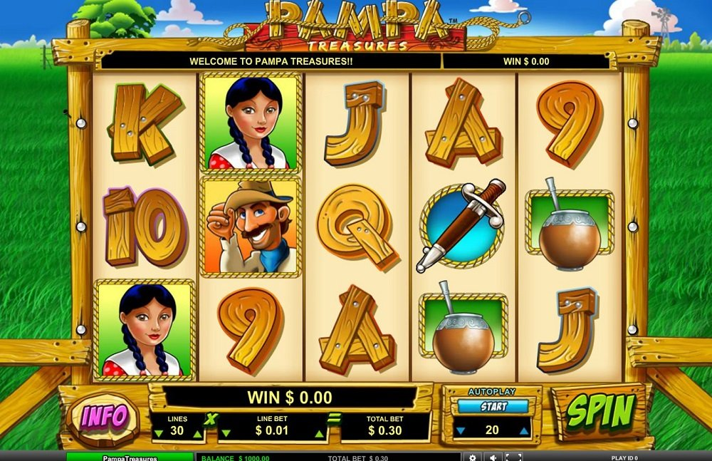 Pampa Treasures Pokie