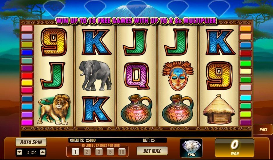 Serengeti Diamonds Pokie