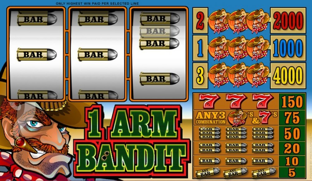 1 Arm Bandit Pokie