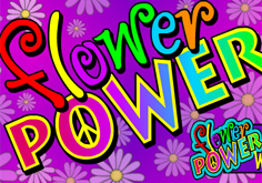 Flower Power Pokie Logo