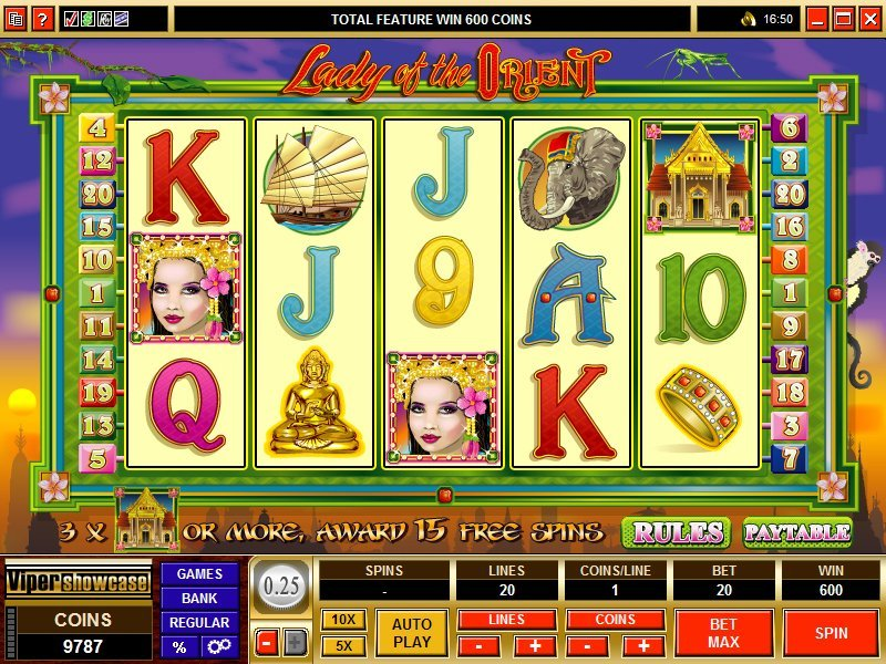 Lady Of The Orient Pokie