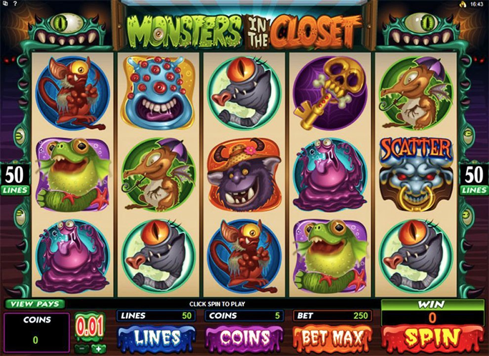 Monsters In The Closet Pokie