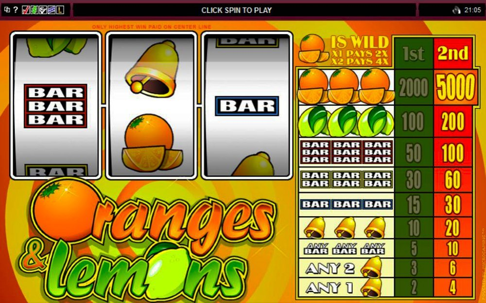 Oranges And Lemons Pokie
