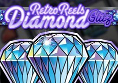 Retro Reels Diamond Glitz Pokie Logo