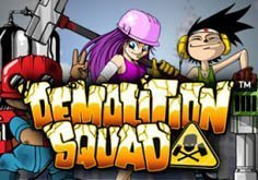 Demolition Squad Pokie Logo