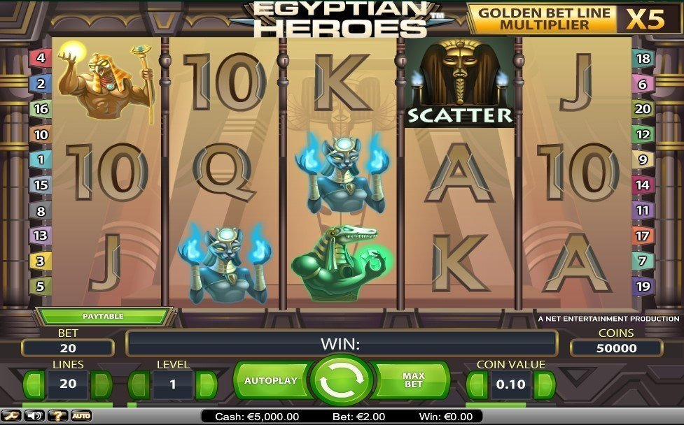 Egyptian Heroes Pokie