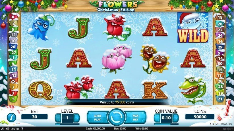 Flowers Christmas Edition Pokie