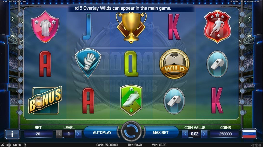 Football Champions Cup Pokie