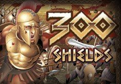 300 Shields Pokie Logo