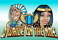 A While On The Nile Pokie Logo