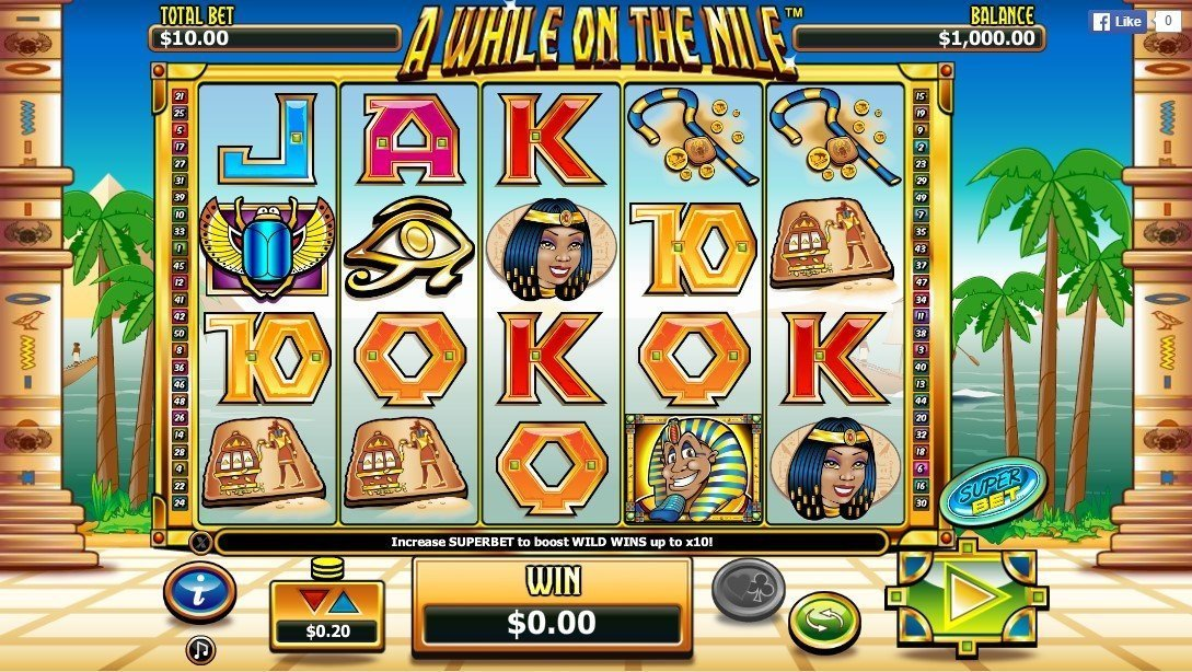 A While On The Nile Pokie