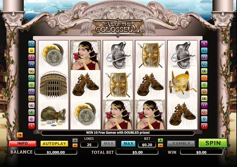 Call Of The Colosseum Pokie